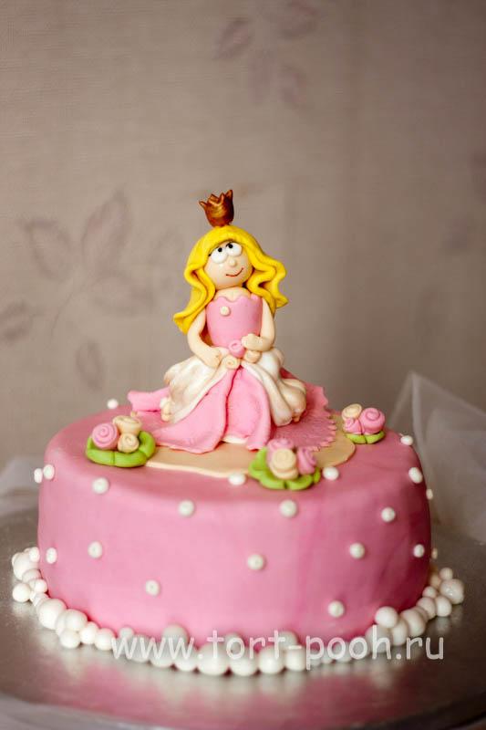 Торт принцесса фото с мастикой