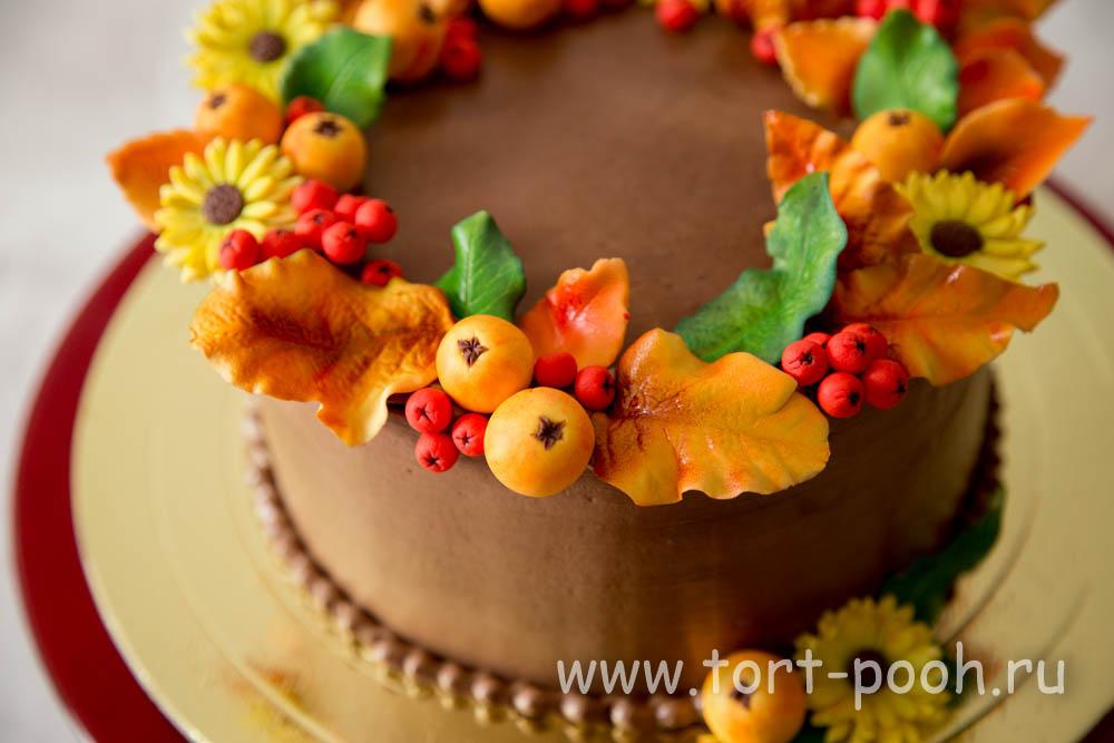 Фото торты, украшения, осень