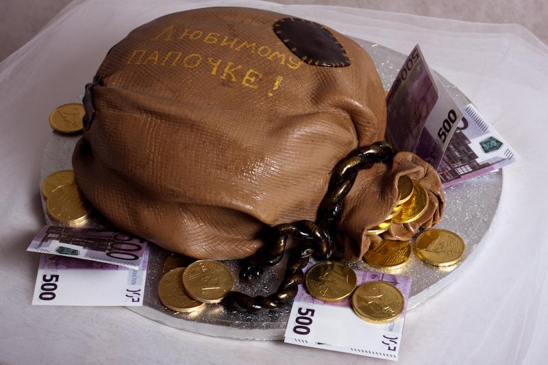 """Торт """"Мешок с деньгами"""""""