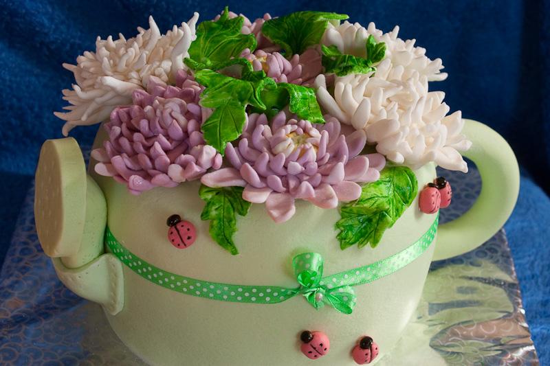 Торт хризантема фото