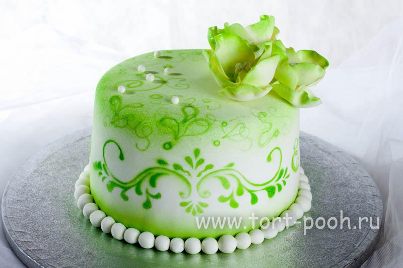 Торт весенняя зелень