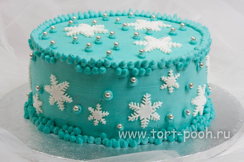 Пошаговое украшение торта сливками